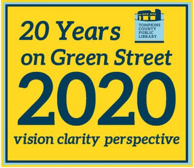 TCPL Foundation's 20 Years on Green Street logo, blue text on a yellow background