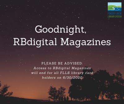 "image announcing end of rbdigital magazine service that reads ""goodnight, rbdigital magazines"""