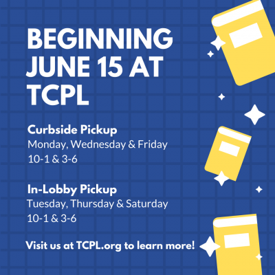 image advertising tcpl's curbside and in-lobby pickup service beginning June 15