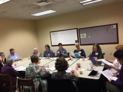 patrons attending the library's memior writing workshop