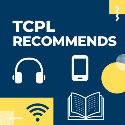 TCPL Recommends logo featuring illustrations of a book, headphones, and a smartphone