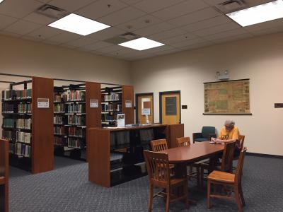 Tompkins County Public Library's local history room