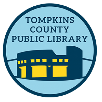 Tompkins County Public Library blue and yellow logo