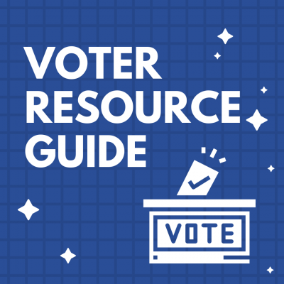 image advertising votor resourse guide featuring white text and ballot illustration against a blue background