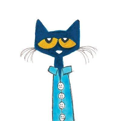 Pete the Cat wearing blue pajamas