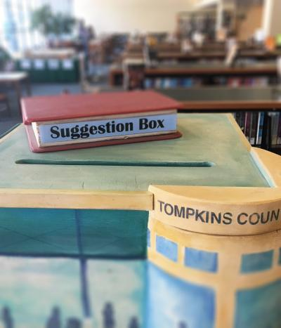Image of patron suggestion box
