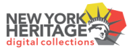 New York Heritage Digital Collection logo featuring image of Statue of Liberty