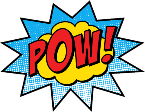 Image of cartoon cloud with the word Pow! in the center