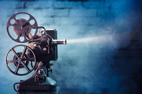 Photo of film projector