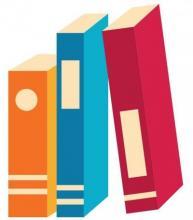 illustration of three books