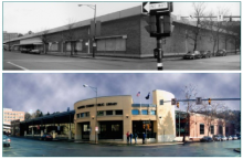 Image of Woolworth Building before and after it was renovated into TCPL